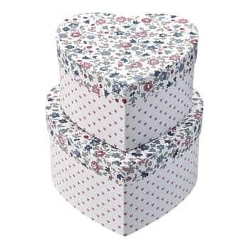 Úložný box Heart Ruby Petit White - set 2ks