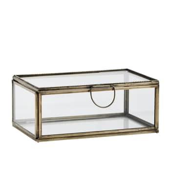 Sklenená krabička Antique Brass