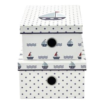 Úložný box Noah White - set 2ks