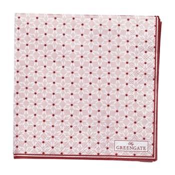 Papírové ubrousky Juno Pale Pink - malé