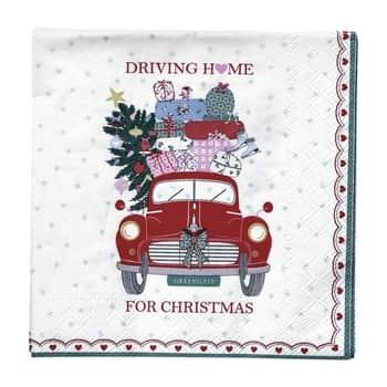 Papierové obrúsky Christmas Car - malé
