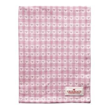 Bavlněná utěrka Heart Petit Pale Pink