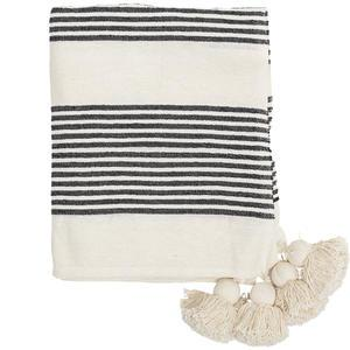 Přehoz Black Stripes 150x125 cm