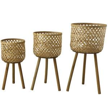Bambusový košík na nôžkach Nature