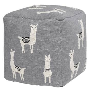 Detský taburet Grey Llama