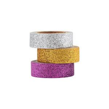 Sada samolepících washi pásek Glittery - 3ks