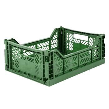 Skládací přepravka Dark Green - midi