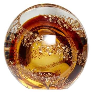 Skleněné těžítko Gold & Brown Glass