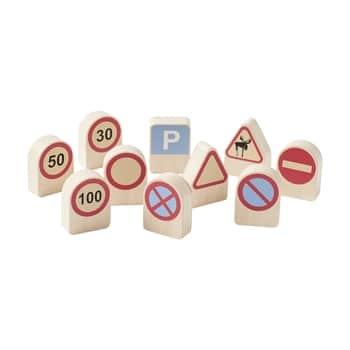 Dřevěné dopravní značky Aiden - 10 ks