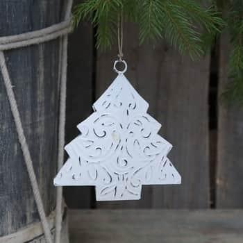 Kovová závesná dekorácia White Tree