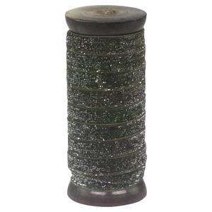 Stuha so špulkou 5m Velour & Glitter Mossy Green