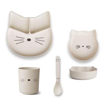 Sada dětského nádobí Jules Junior Creme Cat