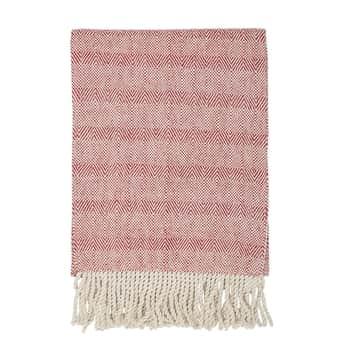 Bavlnený behúň Red Stripes 180 cm
