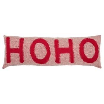 Vánoční bavlněný polštář Ho Ho Hoo 90 x 30 cm