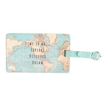 Jmenovka na zavazadlo Vintage Map