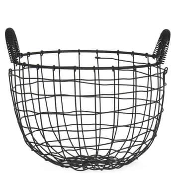 Drôtený úložný koš Wirework Black