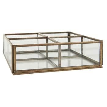 Skleněný box Clear & Gold 4 Rooms
