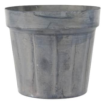 Kovový obal na kvetináčik Pot Plain Grooves