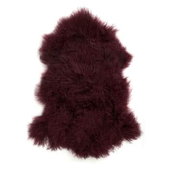 Tibetská jahňacia kožušina Bordeaux Fur