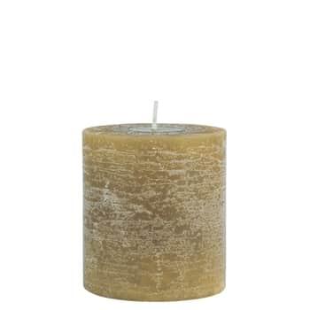 Kulatá svíčka Rustic Mustard 7,5 cm