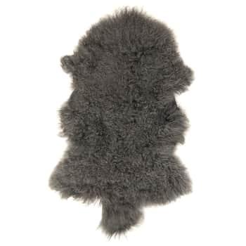 Tibetská jahňačia kožušina Grey Smoke Fur