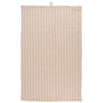 Bavlněná kuchyňská utěrka Natural & Slim Red Stripe
