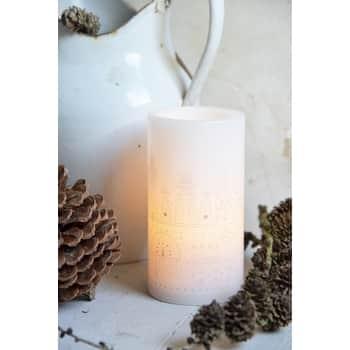 Vosková svíčka sLED žárovkou