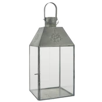 Kovový lampáš Zinc Mistletoe