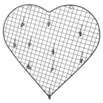 Drátěná nástěnka ve tvaru srdce Zinc