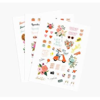 Sada samolepek Stickers - 3 listy