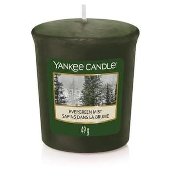 Votivní svíčka Yankee Candle - Evergreen Mist