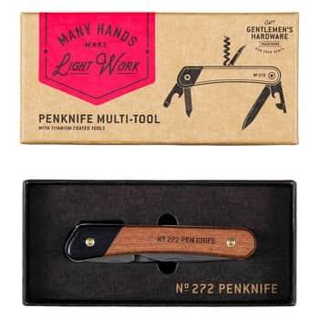 Multifunkčný zatvárací nôž Wood & Titanium Finish