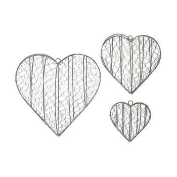 Závěsné otevírací srdce na dekorace