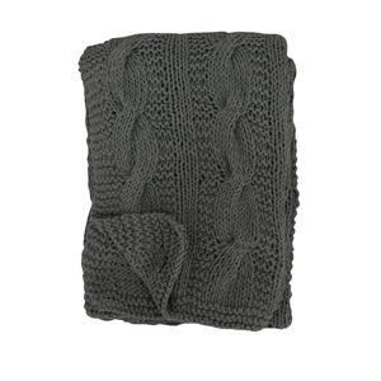 Pletená deka Dark Grey 130x180