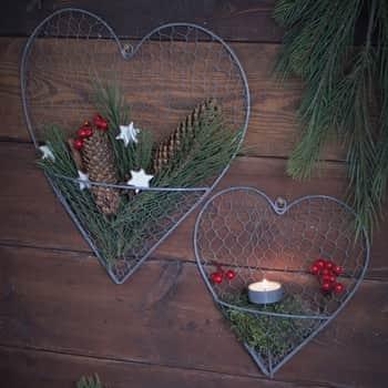 Drôtené závesné srdce na dekorácie