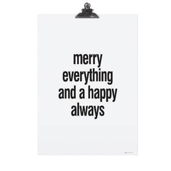 Plakát Merry Everything 30x42 cm