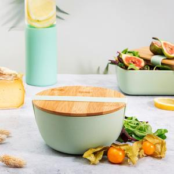 Bambusová miska svíčkem Mint Green