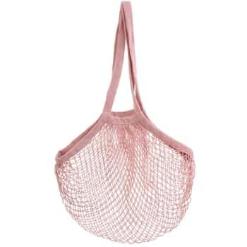 Sieťovaná nákupná taška Pink String