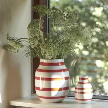 Keramická váza Omaggio Scarlet 20 cm