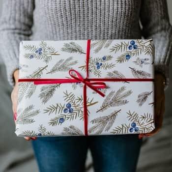 Vánoční balicí papír Jalovec A1