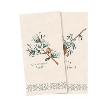 Vianočné papierové obrúsky Pine Cones - 16 ks