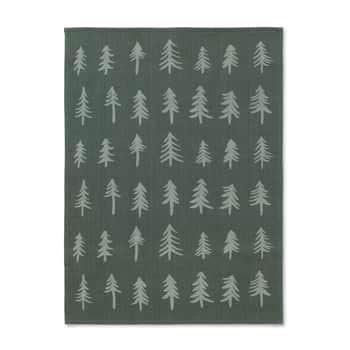 Vánoční bavlněná utěrka Dark Green Tree