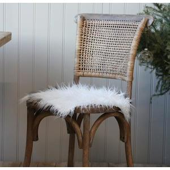 Sedák zumelej kožušiny White 40x40cm