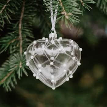 Vianočná ozdoba Crystal Clear Pearls & Matt 16 cm