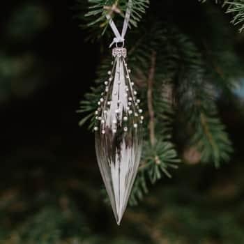 Skleněná vánoční ozdoba Pearls and Stones - raketa