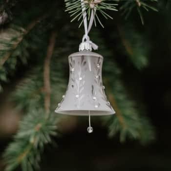 Vianočná ozdoba Crystal Clear Matt Bell 8 cm