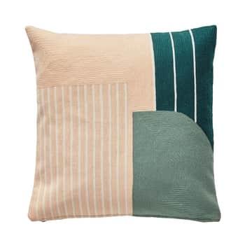 Bavlněný polštář Pastel Pink & Mint 50 x 50 cm