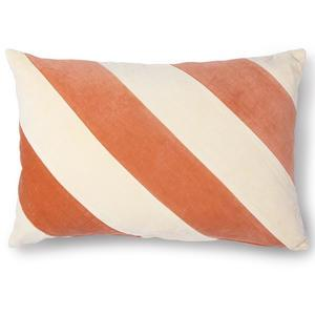 Bavlněný polštář Velvet Peach & Cream