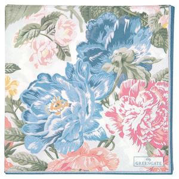 Papírové ubrousky Adele White Large 20 ks