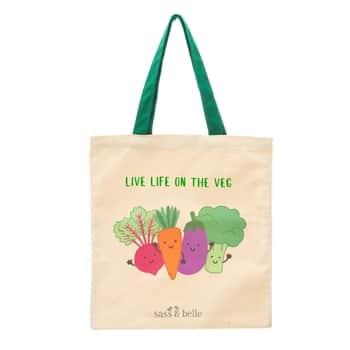 Plátená taška Live Life On The Veggie